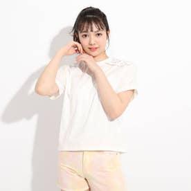肩編み上げTシャツ (オフホワイト)