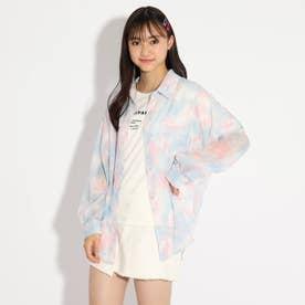 透けシャツ+TシャツSET (ライトブルー)