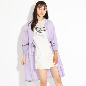 ロングブルゾン+TシャツSET (ライトパープル)