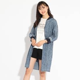 ロングブルゾン+TシャツSET (ライトブルー)