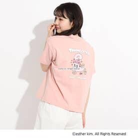 【ESTHER BUNNY】バックプリントTシャツ (ベビーピンク)