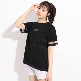 【FILA】袖メッシュTシャツ (ブラック)