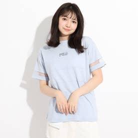 【FILA】袖メッシュTシャツ (サックス)