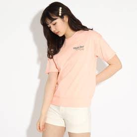 【コットン100%】バックバルーンちびロゴTシャツ (ライトオレンジ)