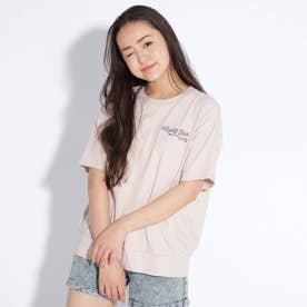 ★ニコラ掲載★【コットン100%】バックバルーンちびロゴTシャツ (ベビーピンク)