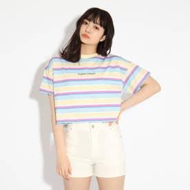 ★ニコラ掲載★クロップドボーダーTシャツ (レモンイエロー)