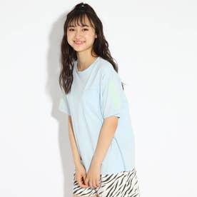 胸ポケット袖刺繍Tシャツ (サックス)