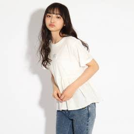 【コットン100%】ティアードTシャツ (オフホワイト)