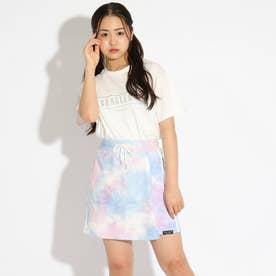 刺しゅうTシャツ+タイダイスカパンセット (オフホワイト)
