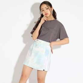 刺しゅうTシャツ+タイダイスカパンセット (チャコールグレー)