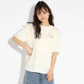 べストレイヤード風ドッキングTシャツ (オフホワイト)
