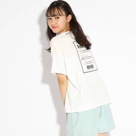 【接触冷感】バックBOXロゴTシャツ (オフホワイト)