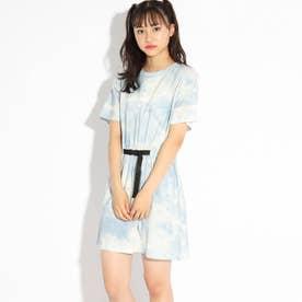 【FILA】【ニコラ掲載商品】タイダイワンピース (ライトブルー)