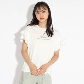 メローダブルフリルTシャツ (オフホワイト)