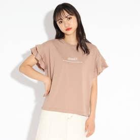 メローダブルフリルTシャツ (ブラウン)
