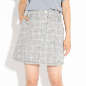 【ニコラ掲載商品】ステッチ入りスカート (グレー)