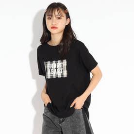 ロゴアップリケTシャツ (ブラック)
