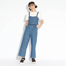 3WAYオールインワン風Tシャツセット (ネイビー)