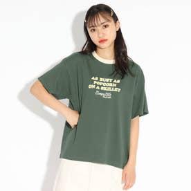 【ここはコラボ/ニコラ掲載商品】リンガーTシャツ (グリーン)