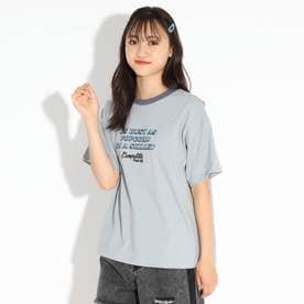 【ここはコラボ/ニコラ掲載商品】リンガーTシャツ (サックス)