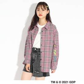 【グレイトフル・デッド】【ニコラ掲載商品】シャツ+Tシャツセット (ピンク)