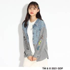 【グレイトフル・デッド】【ニコラ掲載商品】シャツ+Tシャツセット (ライトブルー)