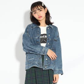 【WEB限定サイズ140㎝あり/ニコラ掲載商品】シャツジャン (ライトブルー)