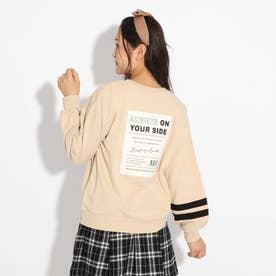 【WEB限定カラーあり/コットン100%】COOLBOX裏毛トップス (ライトベージュ)