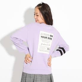 【WEB限定カラーあり/コットン100%】COOLBOX裏毛トップス (ライトパープル)