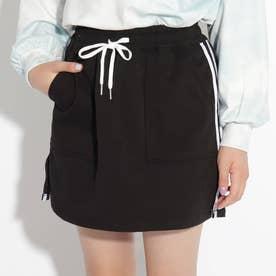 イージー台形スカート (ブラック)