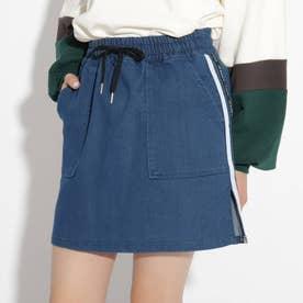 イージー台形スカート (ブルー)
