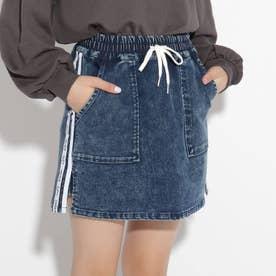 イージー台形スカート (ライトブルー)
