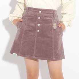 コーデュロイ台形スカート (ブラウン)