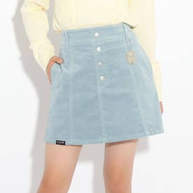 コーデュロイ台形スカート (ライトブルー)