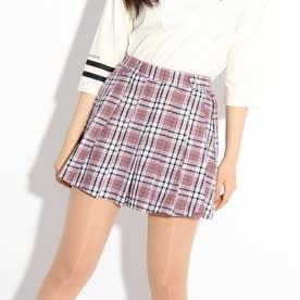 【ニコラ掲載商品】チェックポリプリーツスカート (ライトパープル)