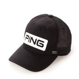 メンズ ゴルフ キャップ HW-U206 TOUR MESH CAP 35343-02 (ブラック)