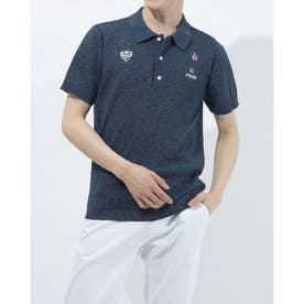 メンズ ゴルフ 半袖シャツ SSニットポロシャツ 6211172003 (ネイビー)