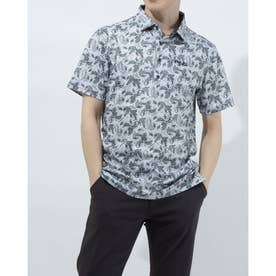 メンズ ゴルフ 半袖シャツ SSカノコポロシャツ 6211160002 (グレー)