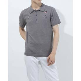 メンズ ゴルフ 半袖シャツ SSニットポロシャツ 6211172003 (グレー)