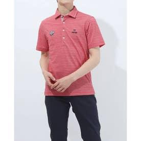 メンズ ゴルフ 半袖シャツ SS共襟ジャガードポロシャツ 6211160005 (レッド)
