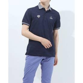 メンズ ゴルフ 半袖シャツ SSカノコポロシャツ 6211160008 (ネイビー)