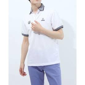 メンズ ゴルフ 半袖シャツ SSカノコポロシャツ 6211160008 (ホワイト)