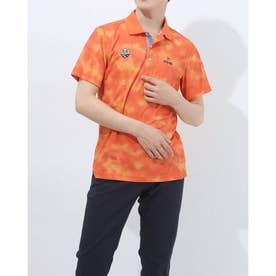 メンズ ゴルフ 半袖シャツ SSタイダイポロシャツ 6211160003 (オレンジ)