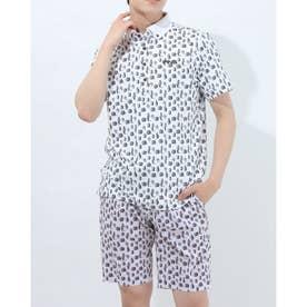 メンズ ゴルフ 半袖シャツ SSボタンダウンポロシャツ 6211160007 (ホワイト)