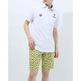 メンズ ゴルフ 半袖シャツ SL共襟ポロシャツ 6211160004 (ホワイト)
