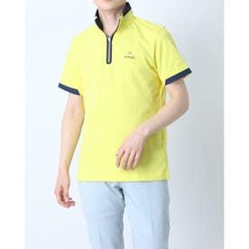 メンズ ゴルフ 半袖シャツ SSハーフジップモックネックシャツ 6211168001 (イエロー)