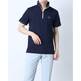 メンズ ゴルフ 半袖シャツ SSハーフジップモックネックシャツ 6211168001 (ネイビー)