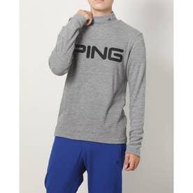 メンズ ゴルフ 長袖シャツ PINGビッグロゴハイネックシャツ 6211269003 (グレー)