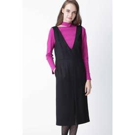 ◆ウールヘリンボーンジャンパースカート ブラック