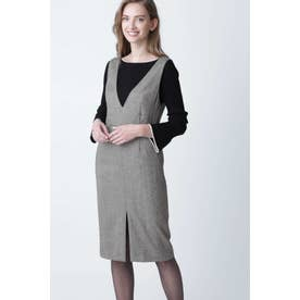 ◆ウールヘリンボーンジャンパースカート ヘリンボーン1